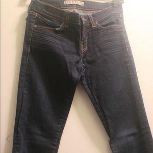 J brand jeans the deal skinny straight zipper leg